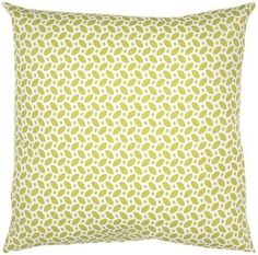 Lime Green Pattern Throw Pillow | Lime Green and White Throw Pillow | Bright Kids Lounge Blog Post | FurnishingFrugally.com
