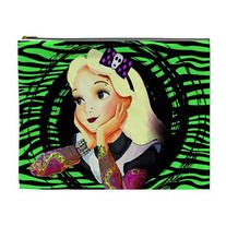 TATTOOED ALICE XL cosmetic bag by Lttle Shop Of Horrors. GOTHIC, ROCKABILLY, PSYCHOBILLY, ALICE IN WONDERLAND, TATTOO, PINUP, DARK
