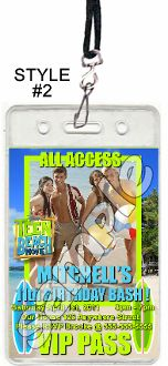 TEEN BEACH MOVIE VIP PASSES WITH LANYARDS