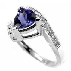 1.55ct AAA Trillion Tanzanite & Diamond Engagement by JewelryPoint