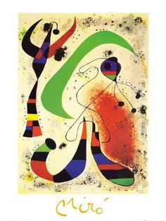Nacht Kunstdruck by Joan Miró at Art.com