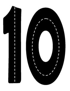 Verkeerscijfer 10