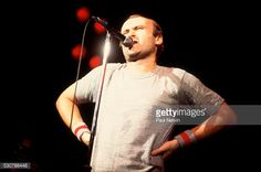 British Pop and Rock musician Phil Collins of the group Genesis performs onstage at the Rosemont Horizon, Rosemont, Illinois, November 14, 1981.