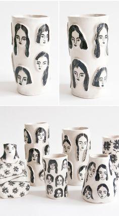 人のイラスト leah goren ceramics <3