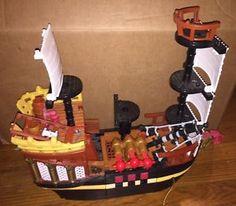 Huge-Lot-Fisher-Price-Imaginext-Pirate-Ship-Island-Fire-Station-Castle-More Imaginext Pirate Ship, Preschool Toys, Fisher Price, Pirates, Castle, Fire, Island, Ebay, Block Island
