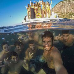 Epic group selfie in Ilhas Cagarras