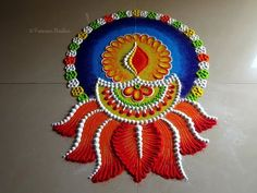 Rangoli Designs Simple Diwali, Rangoli Designs Latest, Rangoli Designs Flower, Free Hand Rangoli Design, Rangoli Border Designs, Rangoli Patterns, Rangoli Ideas, Rangoli Designs With Dots, New Mehndi Designs