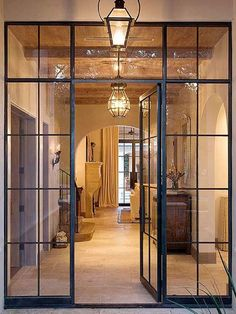 Looking for new trending french door ideas? Find 100 pictures of the very best french door ideas from top designers. Get your inspirations today! Architecture Details, Interior Architecture, Windows Architecture, Residential Architecture, Steel Frame Doors, Metal Doors, Sliding Doors, Steel Frame House, Door Hinges