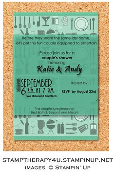 My Digital Studio (MDS) Couples Shower Invitation. This was made using MDS, it is a great tool, so versatile.  This was the first time I had used it and I had a blast making this for a friend.