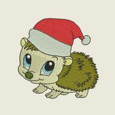 Christmas time hedgehog 04 | Spookies Treasures Hedgehogs, Christmas Time, Hedgehog
