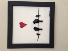 Family time - Private Collection Portland OR. Fused Glass Art, Stained Glass, Valentine Doodle, Kiln Formed Glass, Glass Garden Art, Glass Birds, Picture Frames, Deco, Creative