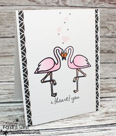 Card by Kendra Sand  (050216)  [The Stamps of Life  (stamps) Flamingos2Stamp, Ladybugs2Stamp, Palette4Mirror, TinyTitles2Stamp]
