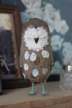 textile owl by abigail brown
