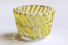 Yellow swirl sticks  Candle holder by Trencadis on Etsy, $18.00