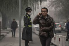 Beijing suffered its worst air pollution of the year on Monday.