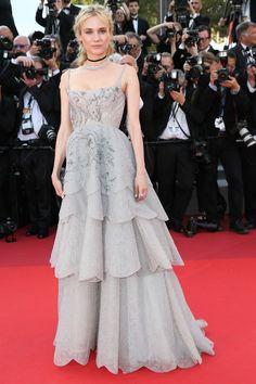 Diane Kruger in custom Prada -Cannes Film Festival 70th Anniversary Gala - HarpersBAZAAR.com