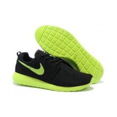 Nike Roshe Run Shield Herre Sko Sort Grøn