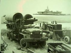 3rd Shore Party Bn C, 1971-72, USS Tripoli LPH10 in background. - 1971
