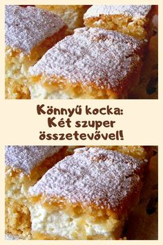 Hungarian Desserts, Hungarian Recipes, Cookie Recipes, Dessert Recipes, Smoothie Fruit, Best Cheesecake, Good Food, Yummy Food, Cake Bars