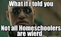 Meme Maker - What if i told you Not all Homeschoolers are weird. They spelled it wrong.