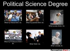 Political Science Degree... - What people think I do, what I really do - Perception Vs Fact
