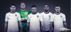 Nike England 2013 FA 150 years Home and Away Kit released. The pictures show the new Nike England 2013 Home and Away Jerseys. England Football Kit, England National Football Team, England Kit, England Fans, Wayne Rooney, Lionel Messi, Fc Barcelona, Fifa, Nike Football Kits