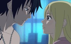 Fairy Tail Lucy and Gray | Gif Lucy et Gray (fairy Tail) - Fairy Tail ♥