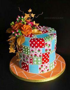 Beautiful patchwork cake