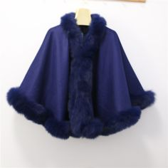 >> Click to Buy << Free shipping 100% cashmere cape with real  fox  fur trim  length 70cm straight fox fur without hood #Affiliate