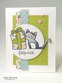 Hi everyone! Today's card was created for my son's girlfriends birthday. She has a black kitty named Bean, and I tried to make this k...