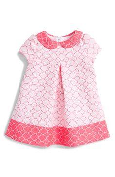 Luli & Me Peter Pan Collar Dress (Baby Girls)
