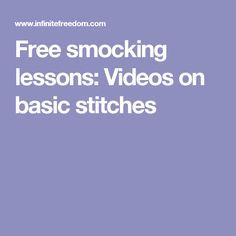Free smocking lessons: Videos on basic stitches