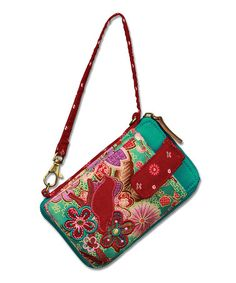Another great find on #zulily! Turquoise & Red Bird Wristlet #zulilyfinds
