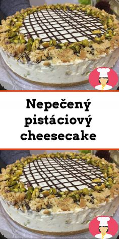 Nepecený pistáciový cheesecake Cheesecake, Camembert Cheese, Food, Cheesecakes, Essen, Meals, Yemek, Cherry Cheesecake Shooters, Eten