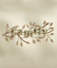 Another great find on #zulily! 'Family' Wall Art #zulilyfinds
