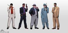 DeviantArt: More Like Gangsters by ArtofTu