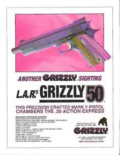 L.A.R.'s Grizzly Mark V, .50