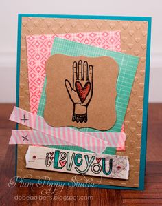 Card using Love by Market Street Stamps.  Designed by DoBea Alberts.