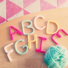 Abécédaire en tricotin A Little L*