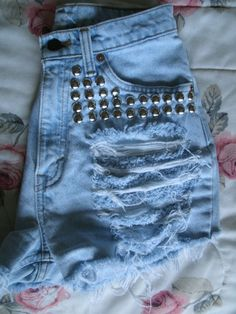 Items similar to Vintage Levi s Cut off Shorts - Studded and Distressed -  Destroyed on Etsy ed0077d678c3