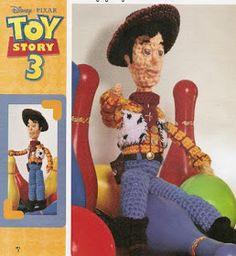 Muñeco Amigurumi Vaquero de Toy Story 3 -Patrón Gratis en Español ( clic en las imágenes para ampliar el patrón) aquí: http://laboresdeestheramigurumis.blogspot.com.es/2011/11/el-vaquero-mas-famoso.html