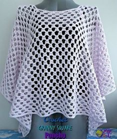 A free pattern for the Crochet Granny Square Poncho. The poncho is easy to adjust A free pattern for the Crochet Granny Square Poncho. The poncho is easy to adjust Crochet Poncho Patterns, Granny Square Crochet Pattern, Crochet Squares, Crochet Granny, Granny Squares, Shawl Patterns, Knitting Patterns, Easy Granny Square, Sewing Patterns