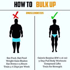 "ATTENTION SKINNY GUYS: HOW TO BULK UP BY @musclemonsters - Claim your free copy of the book ""Bulk Up Fast"" via the link in my bio. _  Your goal isnt just to gain weight but to build muscle - am I right?  _  If so then you must stop eating everything in sight pounding down protein shakes like theyre water and training 5-6 days per week.  _  Instead focus on achieving a slight caloric surplus made up of the right macronutrient distribution  0.8g per pound of bodyweight in protein 0.5g per…"