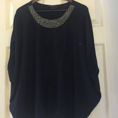 Gorgeous BCBG black blouse! Perfect condition black BCBG blouse, has sequence at the top and throughout the shirt, very flattering! BCBGMaxAzria Tops Blouses