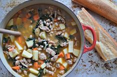 Sausage, Bean and Vegetable Soup @ familybites.ca