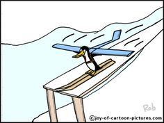 flying penguin comic