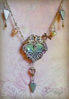 Polymer Clay Heart Necklace