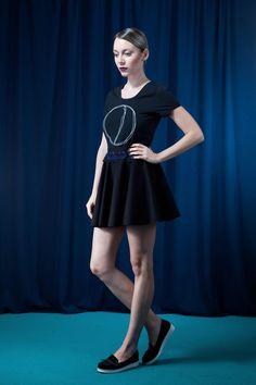 Tellerrock mit Spitze aus Bio-Baumwolle - faire Mode aus Deutschland vom fair Fashionbrand House of Wolf | elegante Damenmode aus Bayern, rockig elegantes Outfit, nachhaltige Kleidung fair produziert in Deutschland