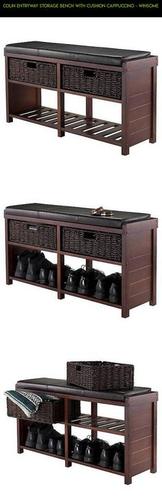 Colin Entryway Storage Bench with Cushion Cappuccino - Winsome #bench #gadgets #plans #shopping #camera #products #technology #parts #kit #fpv #storage #racing #tech #drone #entryway