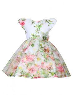 Vestido floral saia miguê